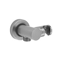 Jaclo 6458-PCH Contempo Water Supply Elbow with Handshower Holder - (Polished Chrome)